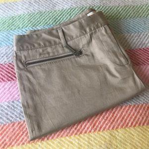 Michael Kors camel bermuda shorts with zip pockets